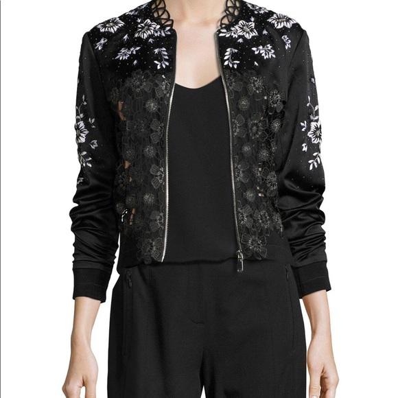 Elie Tahari Jackets & Blazers - EUC Elie Tahari Gorgeous Silk Lace Open Track Sm